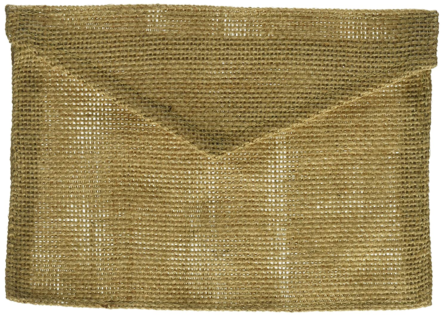 Canvas Corp Burlap Envelope, 5-Inch by 7-Inch, Natural