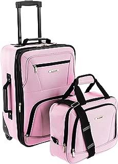 Fashion Softside Upright Luggage Set, Pink