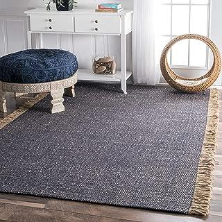 jute rug with tassels