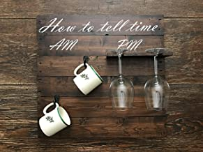 How To Tell Time - Coffee Mug and Wine Glass Holder