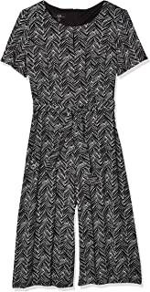 AGB Women's Contemporary Sash Scoop Neck, Front Keyhole Jumpsuit