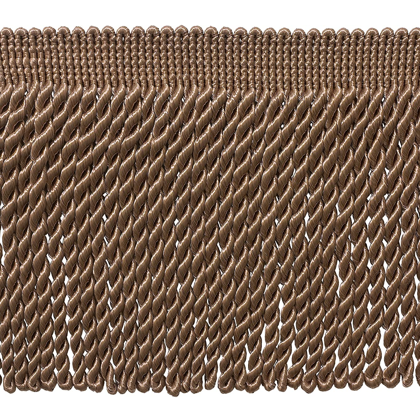 DecoPro 5 Yard Value Pack - 6 Inch Long DARK SAND Bullion Fringe Trim, Style# BFS6 Color: A8 (15 Ft / 4.5 Meters)