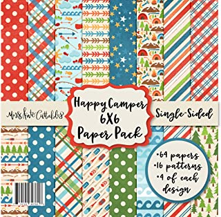 """Sponsored Ad - 6X6 Pattern Paper Pack - Happy Camper - Card Making Scrapbook Specialty Paper Single-Sided 6""""x6"""" Collection..."""