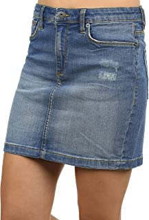 BlendShe Adria Falda Minifalda Falda Tejana para Mujer Elá