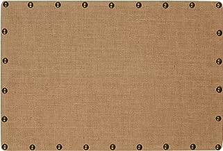 Linon, Medium Burlap Nailhead Corkboard