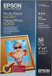 Epson Papel fotográfico brilhante, 10 x 15 cm, 50 folhas (S041809)