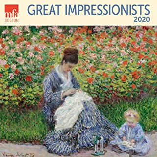 Great Impressionists MFA Boston Wall Calendar 2020 Monthly January December 12'' x 12