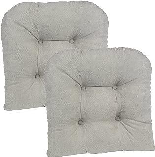 Klear Vu Twilio Universal Non-Slip Fabric Tufted Dining Chair Pad, 15