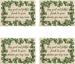 Windham Home St Patrick's Day Themed Tapestry Placemats, Set of 4 (Shamrock Friends)
