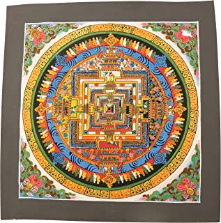 Hands Of Tibet Kalachakra Mandala Thangka Painting from Nepal