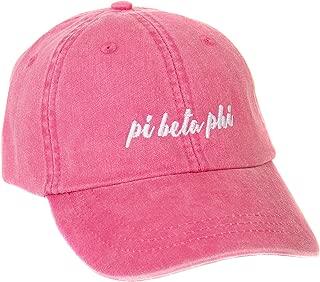 Desert Cactus Pi Beta Phi (N) Sorority Baseball Hat Cap Cursive Name Font Pi Phi