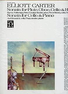 Elliott Carter: Sonata for Flute, Oboe, Cello and Harpsichord (1952); Sonata for Cello & Piano (1948)