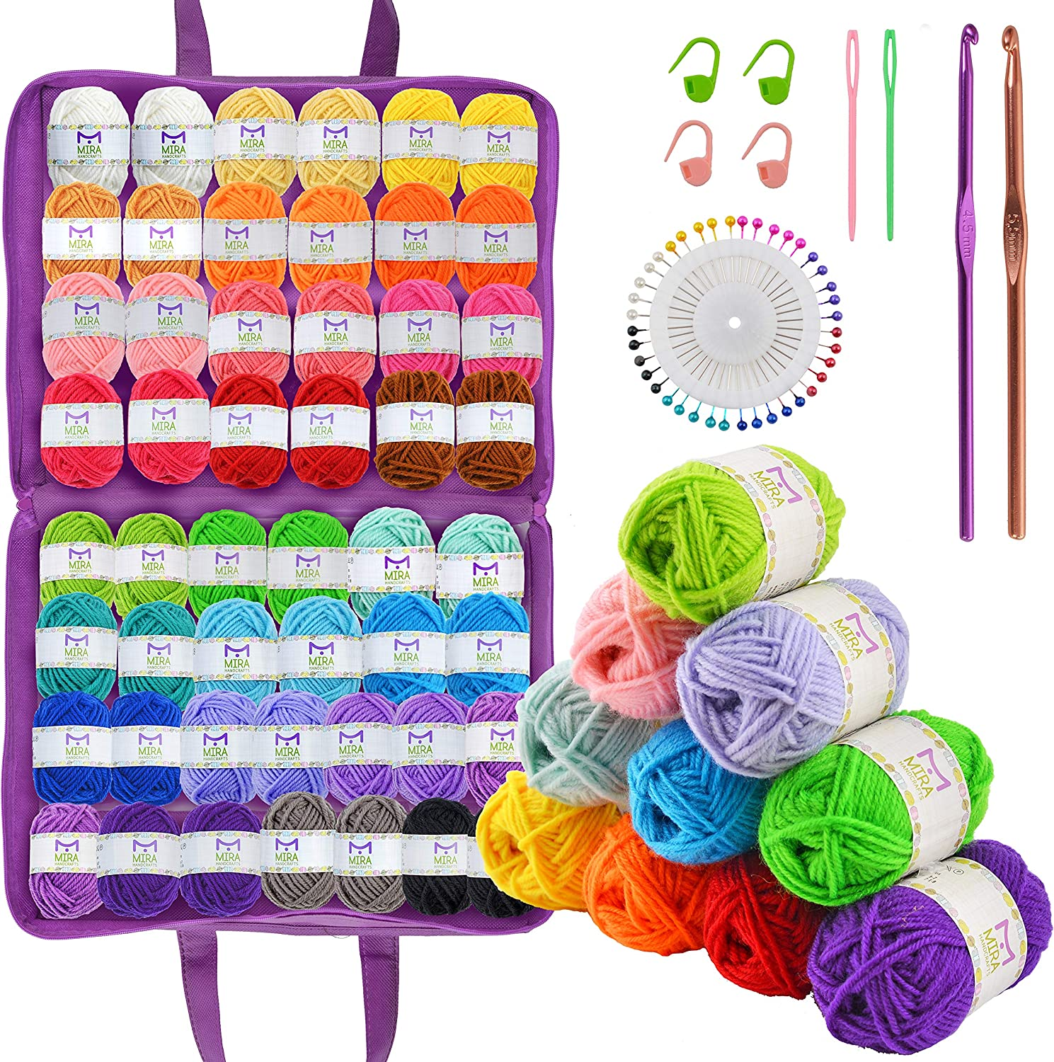 Mira Handcrafts 50 Acrylic Yarn 25% OFF Crafts Large discharge sale Yards Total Skeins 1094