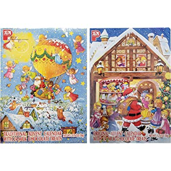 Two Pack - Chocolate Advent Calenders 1.76 oz