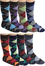 Debra Weitzner mens Dress Socks With Colorful Stripes Patterns- Cotton - Crew length - Pack of 12 Pairs