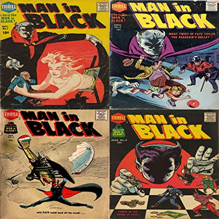 Man in Black. Issues 1, 2, 3 and 4. Includes What twist of fate foiled the assassin's bullet? Pawns in the hand of fate. Only fate could head off the crash. ... Action Adventure (English Edition)