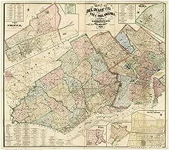 Best old philadelphia map prints Reviews