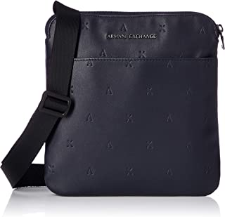 A|X Armani Exchange Men's Embossed Faux Leather Crossbody