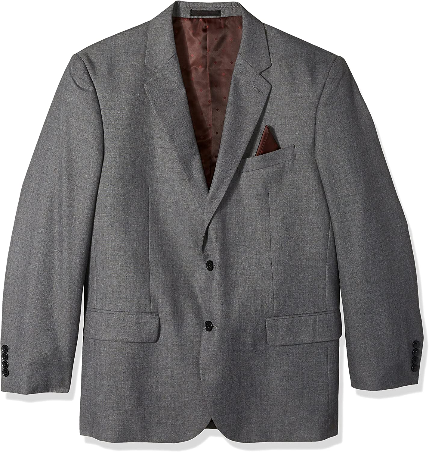 Alexander Julian Colours Men's Big and Tall Single Breasted Modern Fit 2 Button Notch Lapel Suit Separate Jacket