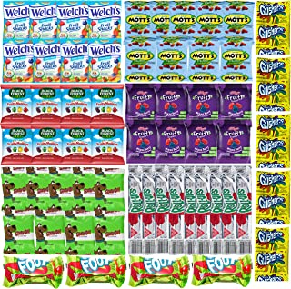 Assorted Candy Variety Pack - Bulk Fruit Snacks for Kids - Includes Gushers, Fruit Roll Up, Fruit By the Foot, Welch's, Mott's, Scooby Doo, Black Forest and Kellogg's (60 Count)