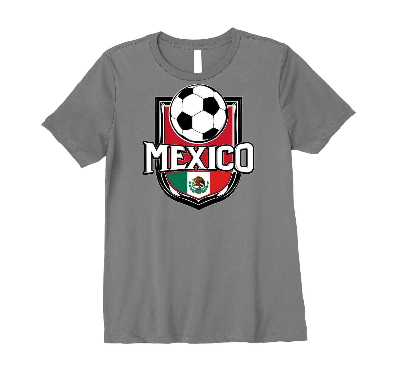 Mexican Flag Football Tee Mexico Soccer Ball T-Shirt