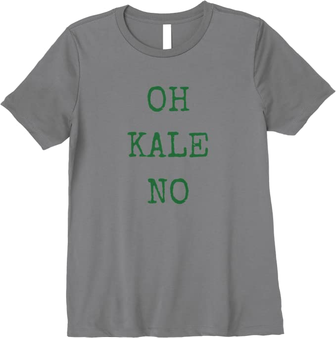 Oh Kale No Funny Tote Bag Screen Printed Canvas Tote Bag