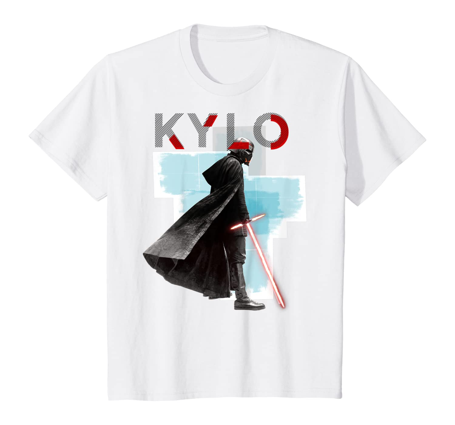 Amazon Com Star Wars The Rise Of Skywalker Kylo Block Stance Poster T Shirt Clothing