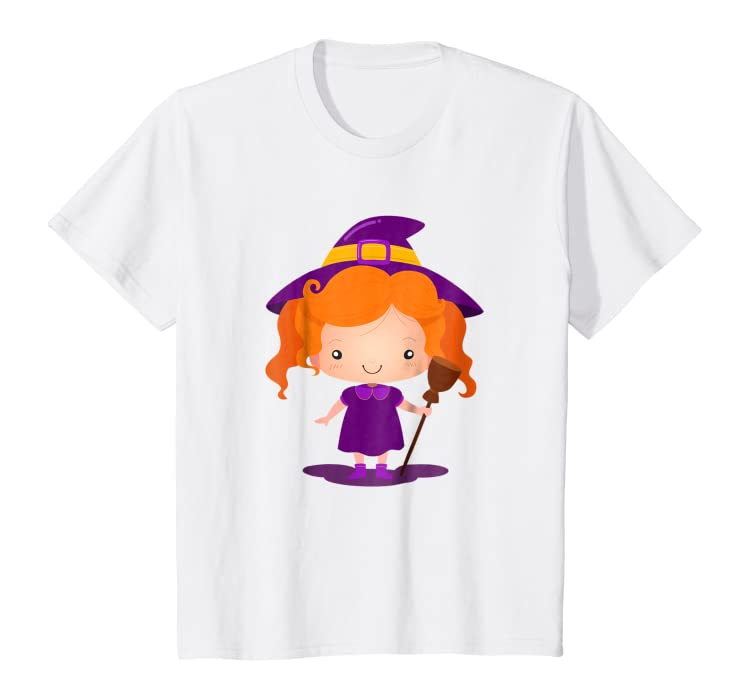 19c04f8a5 Amazon.com: Kids Little Witch Girl Halloween T-Shirt - Halloween Costume  Gift: Clothing
