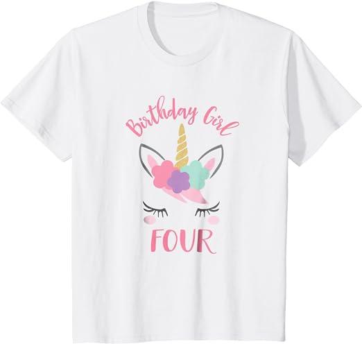 4th birthday shirt 5th birthday shirt girl Second birthday outfit girl 3rd birthday shirt Fourth birthday Birthday girl shirt