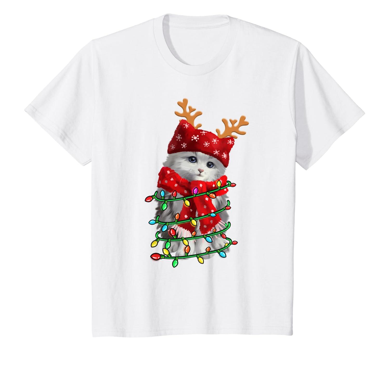 Funny Cat Santa Christmas Cat Lover Gift Men Women Kids T-Shirt