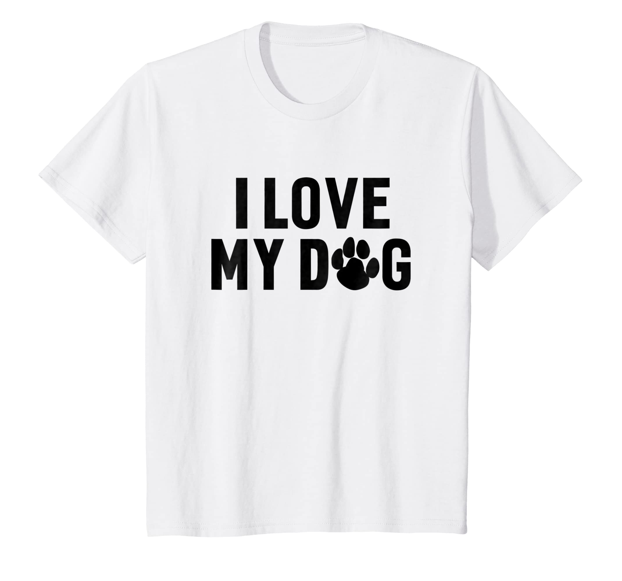 Kids I Love My Dog Funny Hilarious Humor Dogs T shirt-Bawle