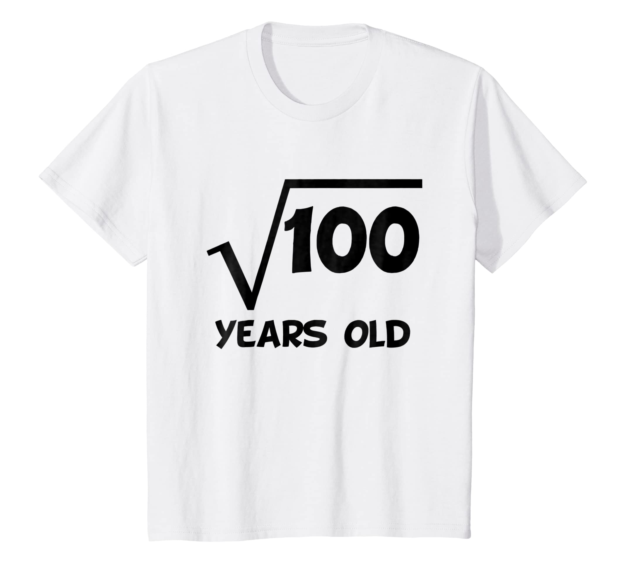 Amazon Kids 10th Birthday Shirt Square Root 10 Years Old Math T Clothing
