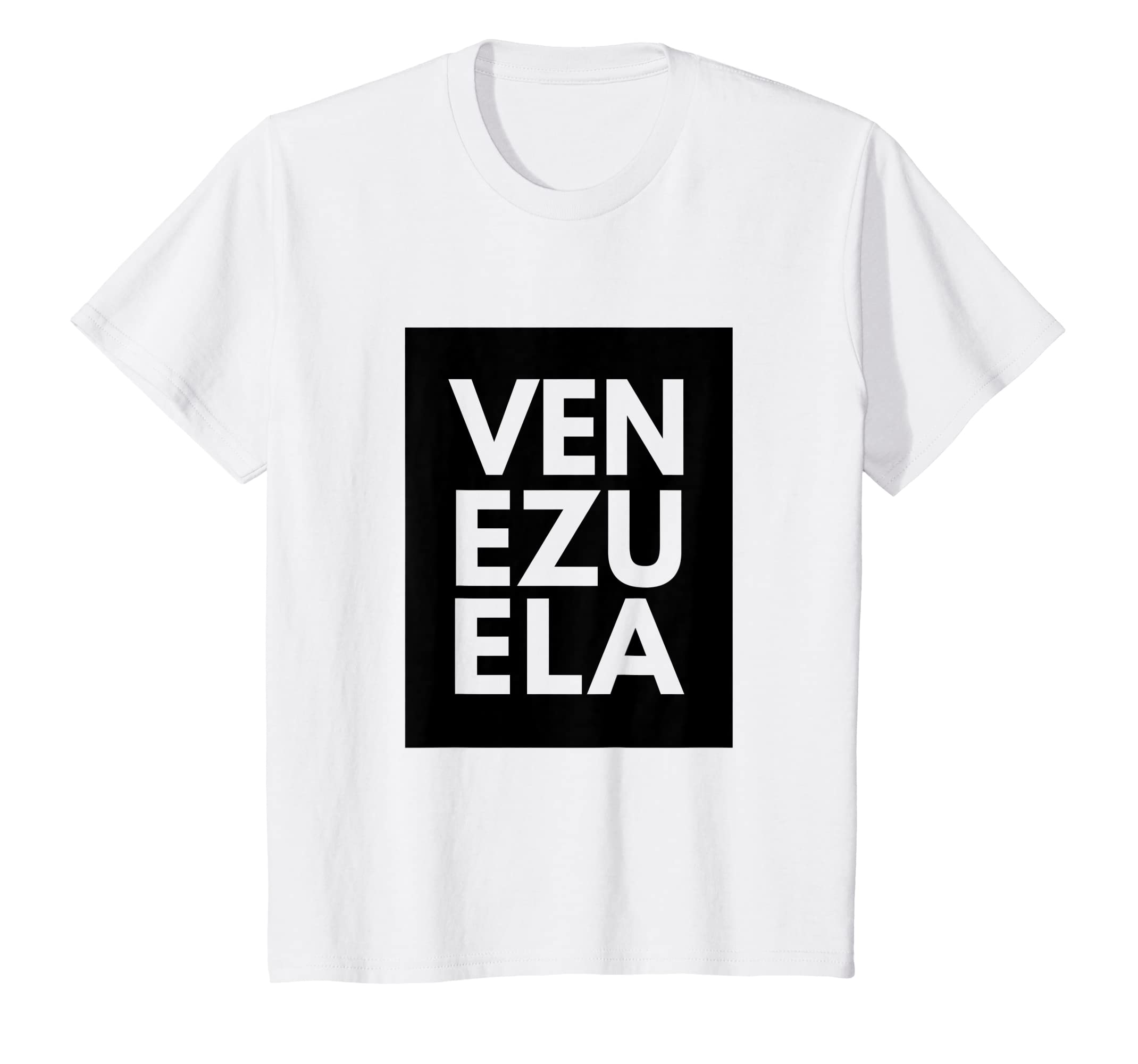 Amazon.com: Venezuela Shirt Novelty Black Art Font Style ...