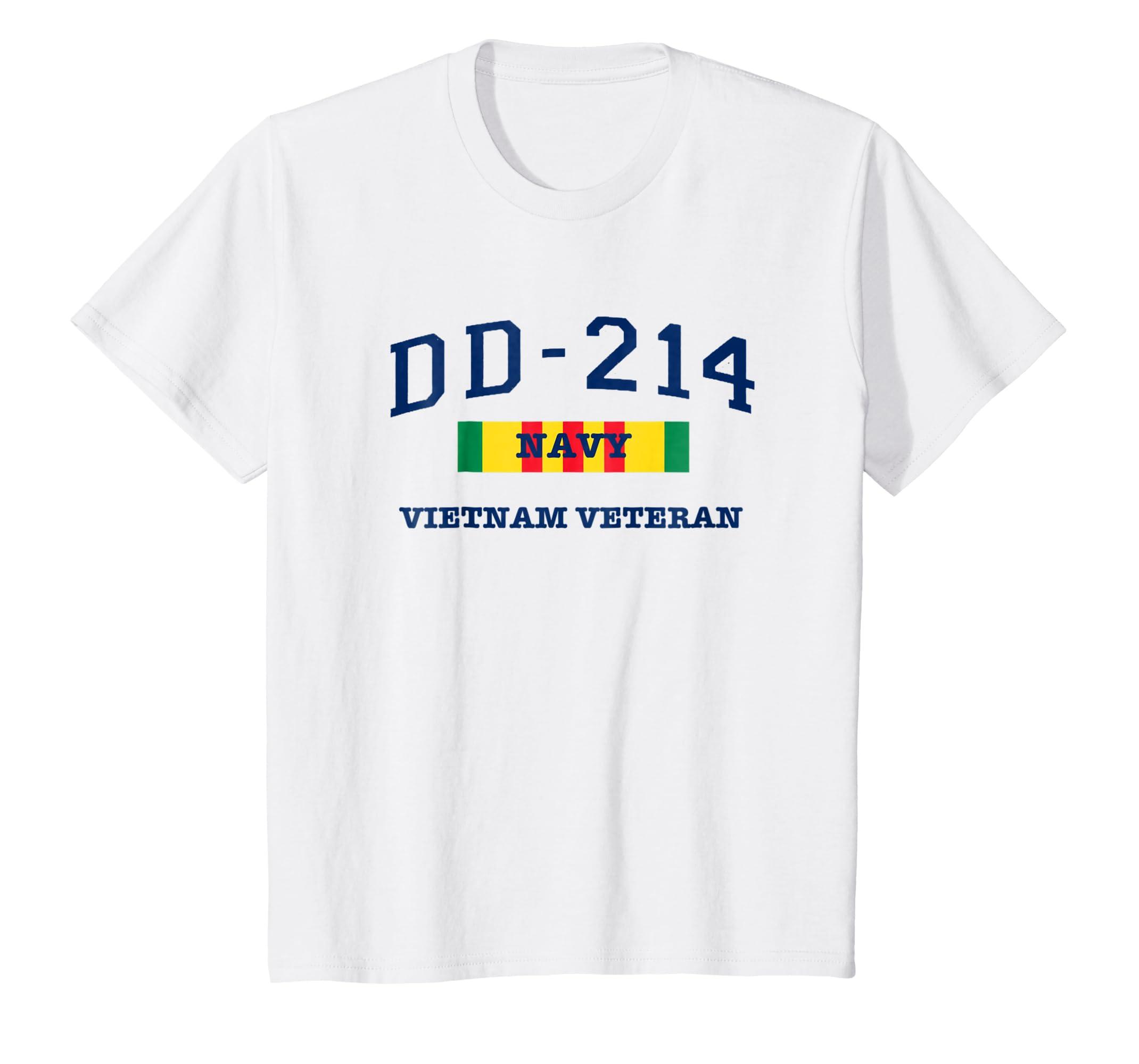 Navy Vietnam Vetrean Shirt War Hero dd214 Tshirt