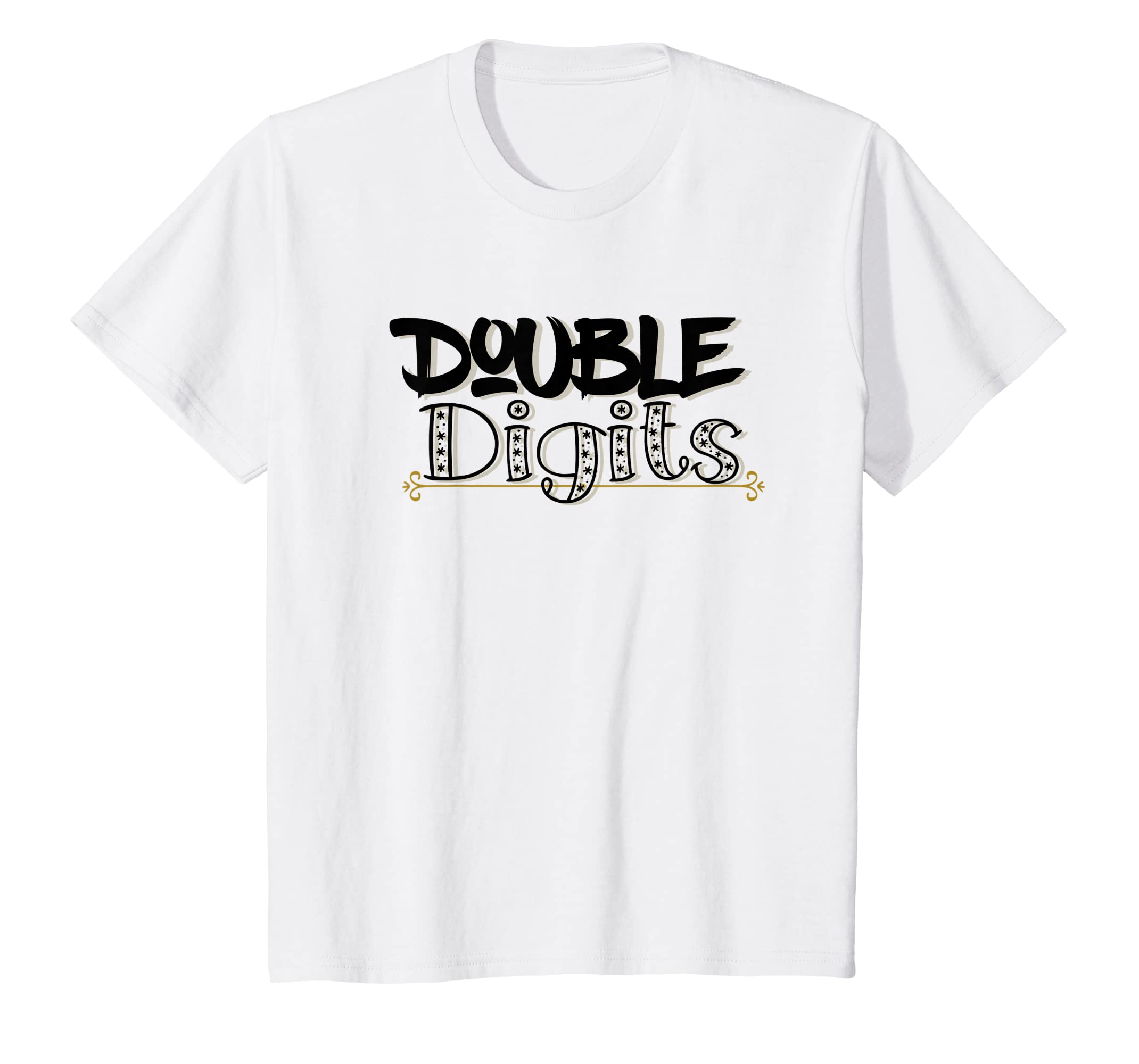 Amazon Double Digits 10 Year Birthday T Shirt Girls Boy Bday Tee Clothing