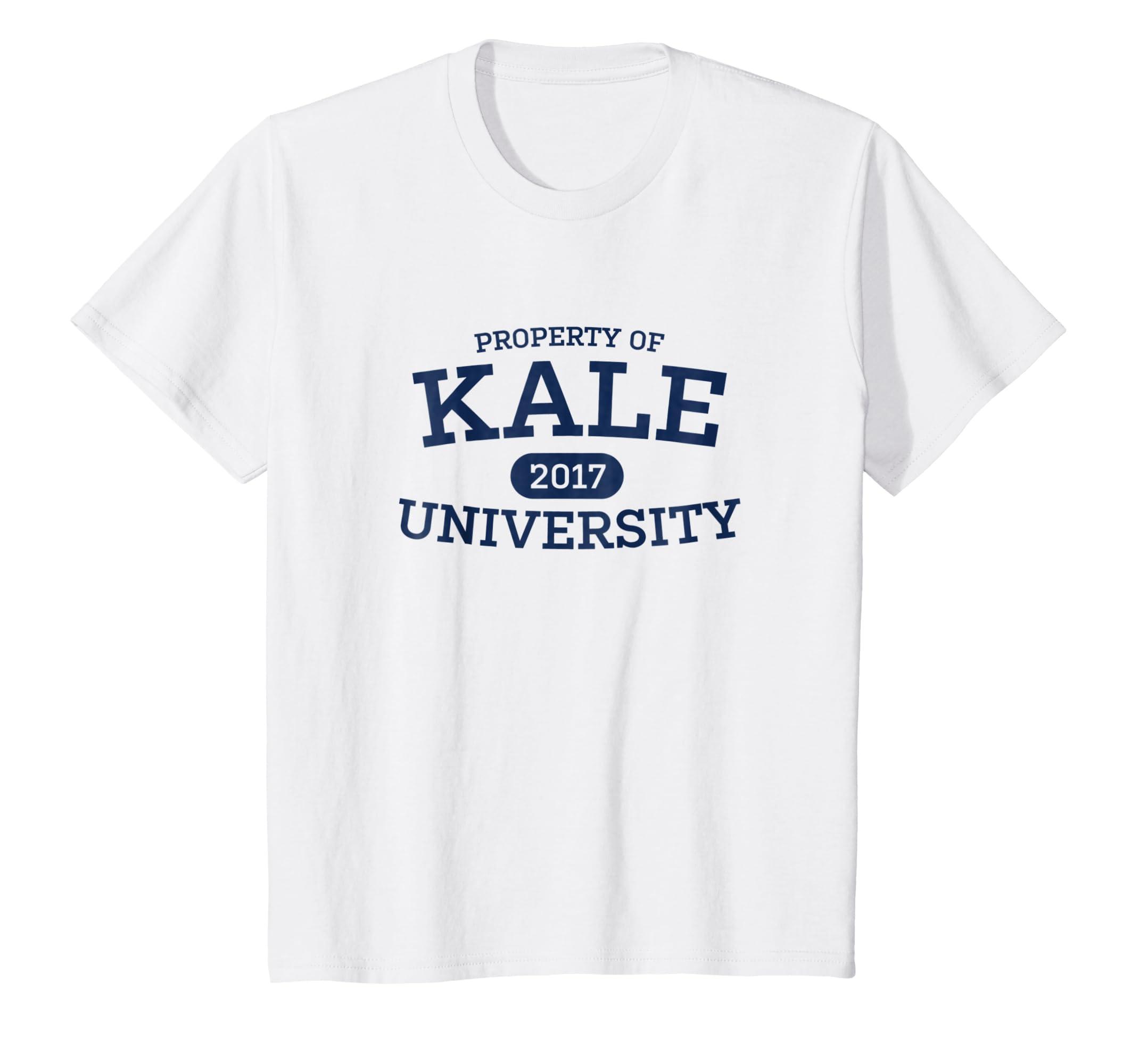 2be78936dc Amazon.com: Funny Kale University Vegan Vegetarian T-Shirt: Clothing