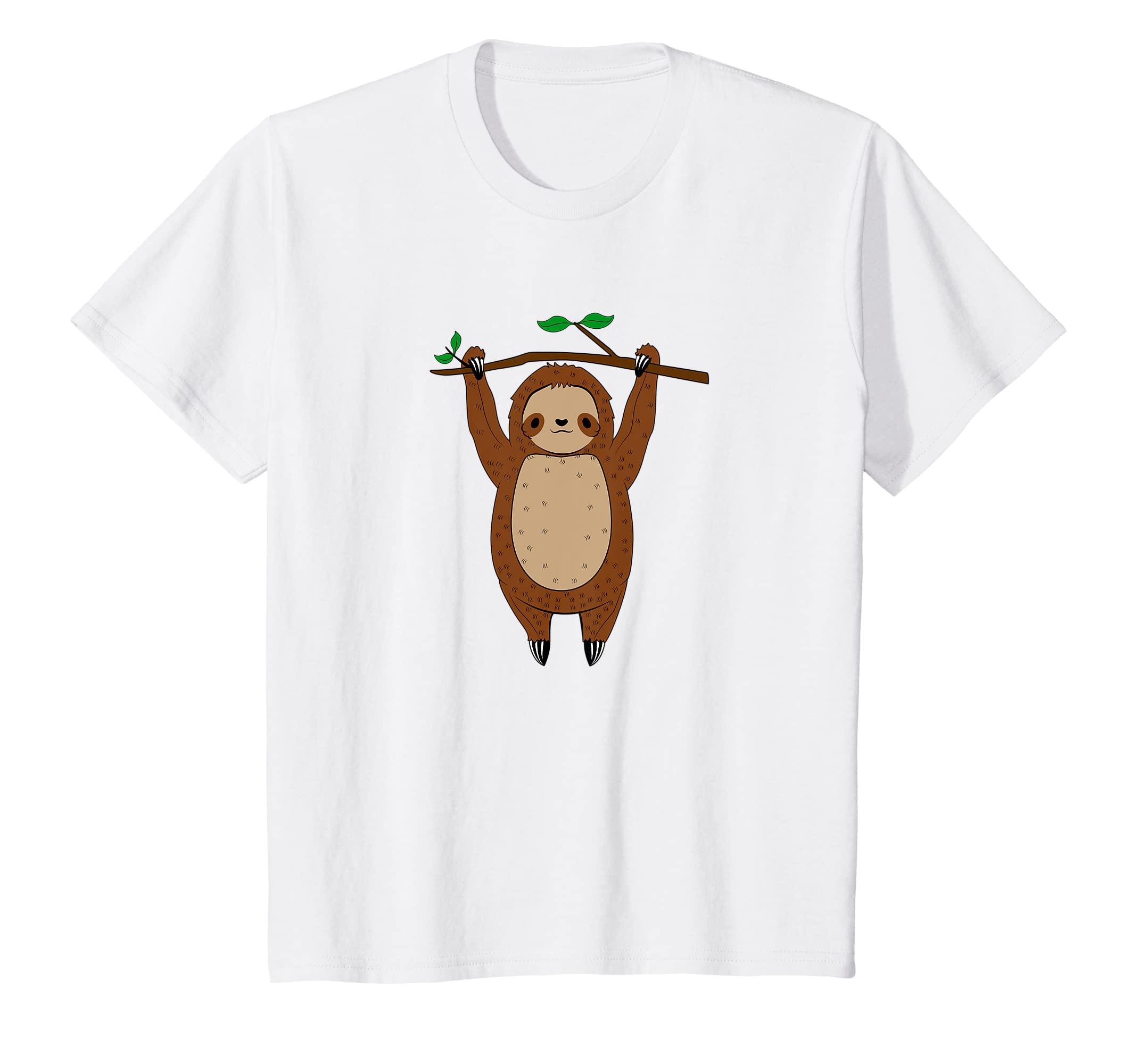 0128099b1 Amazon.com: Cute Lazy Sloth Hanging Funny T-Shirt: Clothing