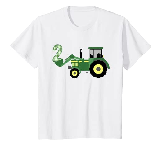Amazon Kids 2nd Birthday Tractor T Shirt 2 Year Old