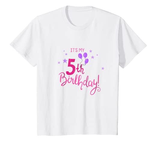Kids Its My 5th Birthday Girls T Shirt