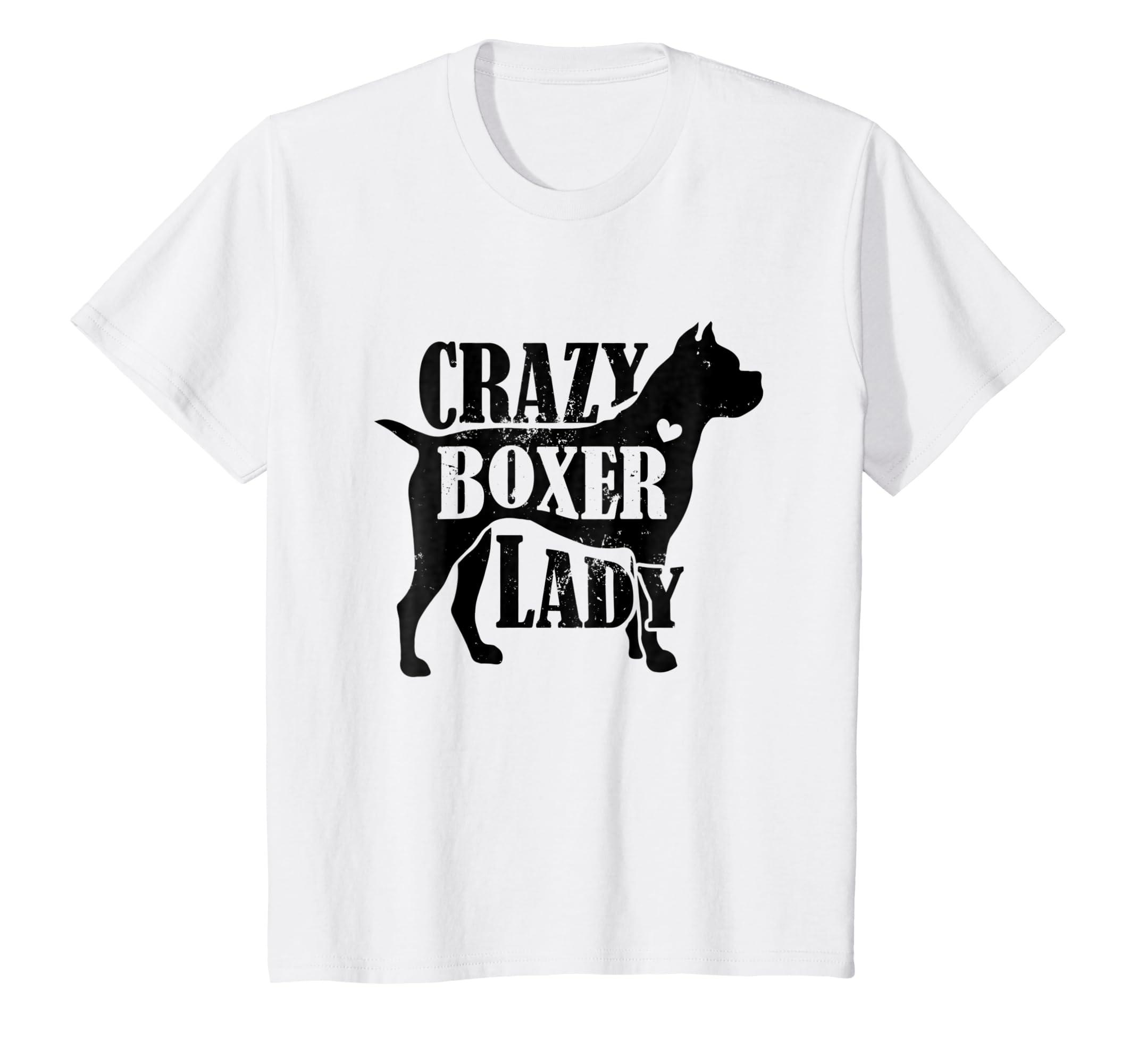 dc49b94ca Amazon.com: Crazy Boxer Lady Shirt - Pet Dog Gifts Women Mom Grandma:  Clothing