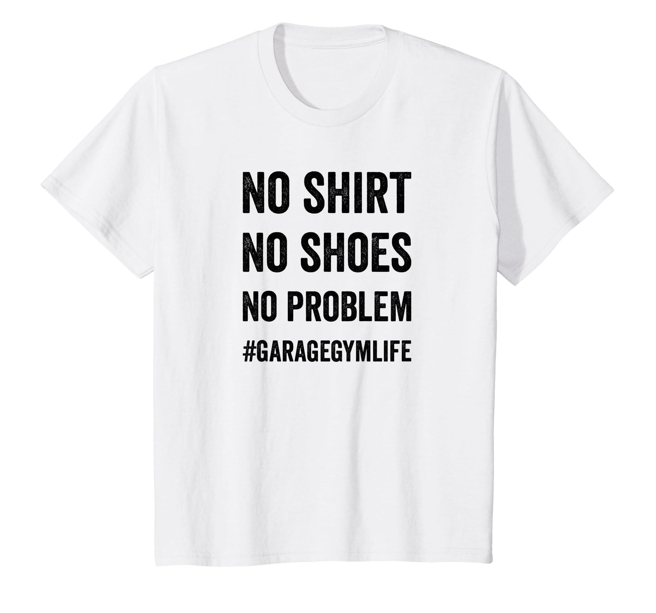 Amazon.com: garage gym life hashtag t shirt for home gym workout