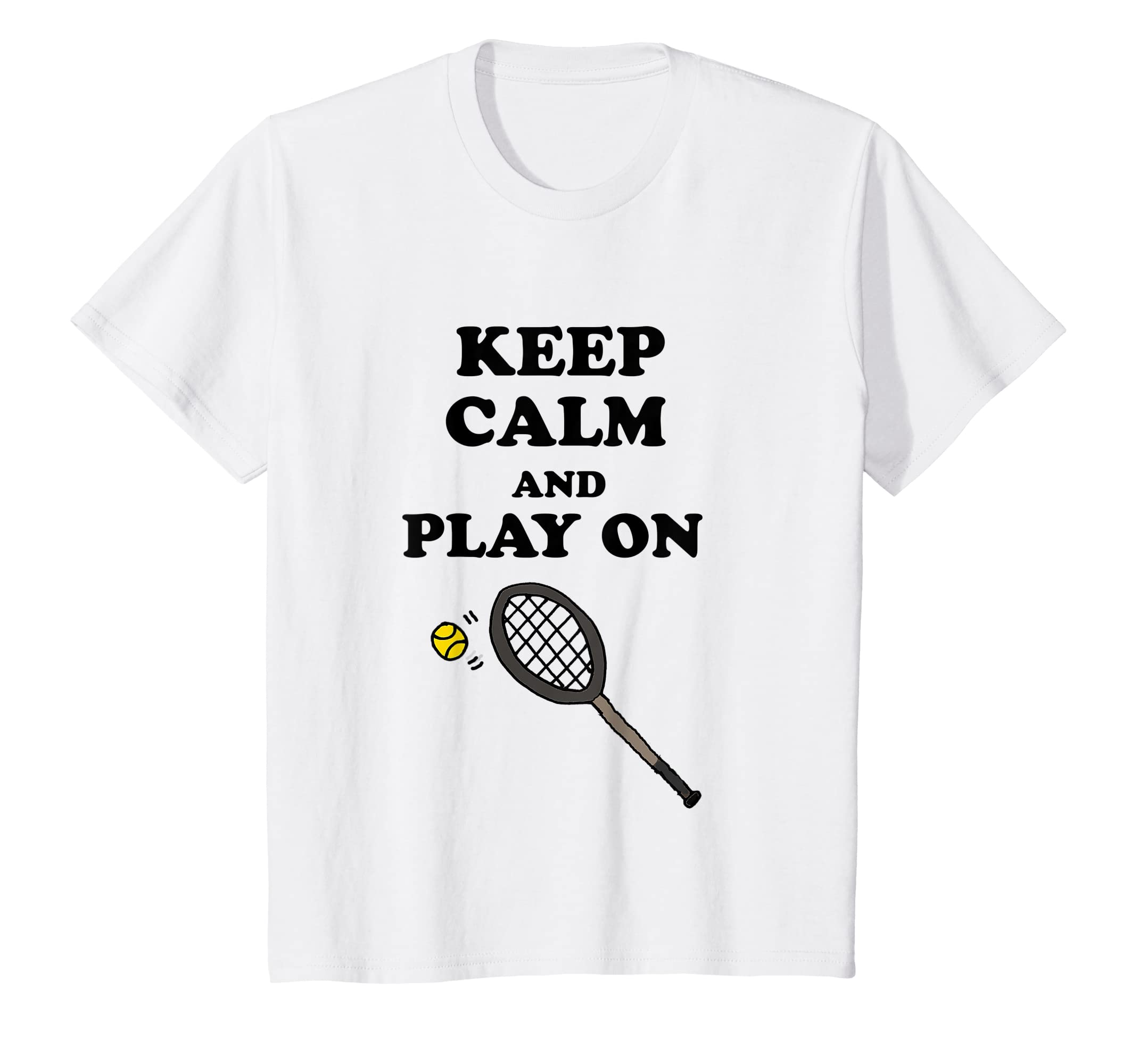 Amazon.com: Smilealottees Funny Keep Calm and Play on Tennis T-shirt: Clothing