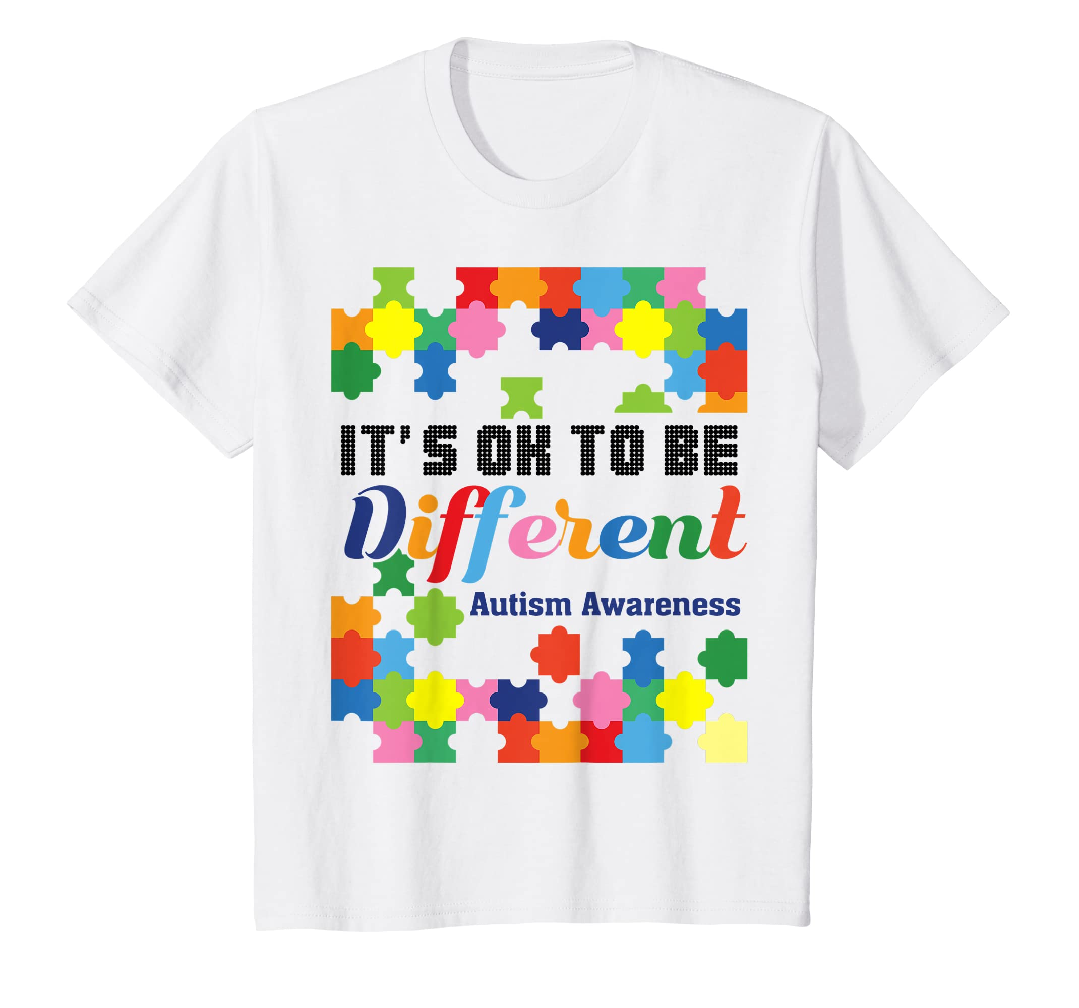 2e91bdf676f Amazon.com  Cute Cool Funny Autism Gift T Shirts for Men Boys Girls Kids   Clothing