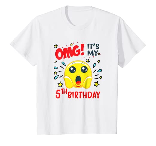 Kids Its My 5th Birthday T Shirt For Funny Surprise Face