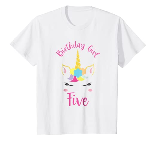 Kids Unicorn Happy Birthday Shirt