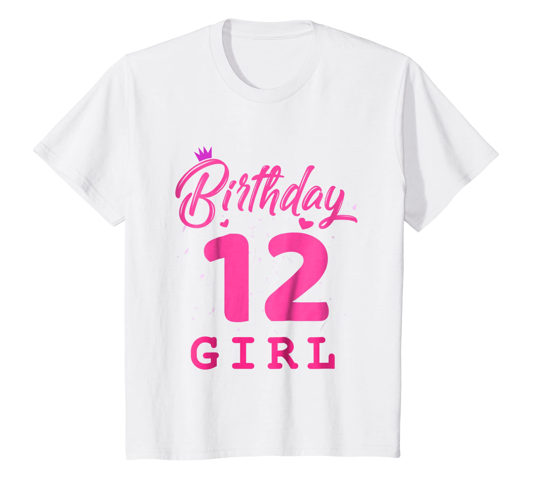 Amazon Happy Birthday Shirt Girls 12th Party 12 Years Old Bday Clothing