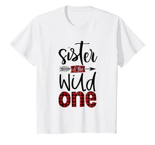74610ee8 Amazon.com: Kids Sister of the Wild One Shirt Plaid Lumberjack 1st ...