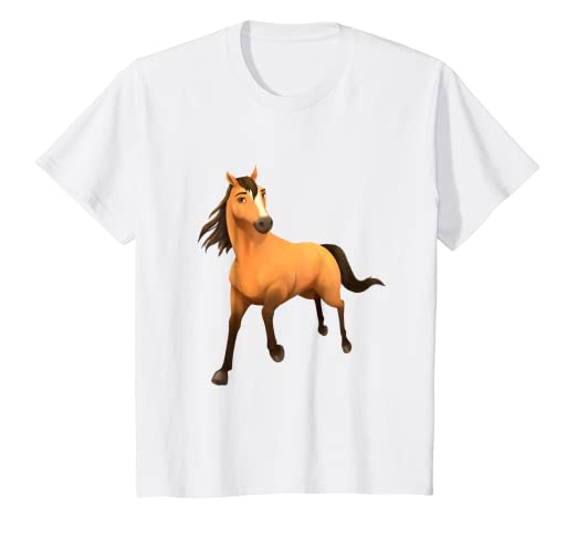 ce9b78275 Amazon.com: Kids DreamWorks Spirit Riding Free - Spirit Horse T ...