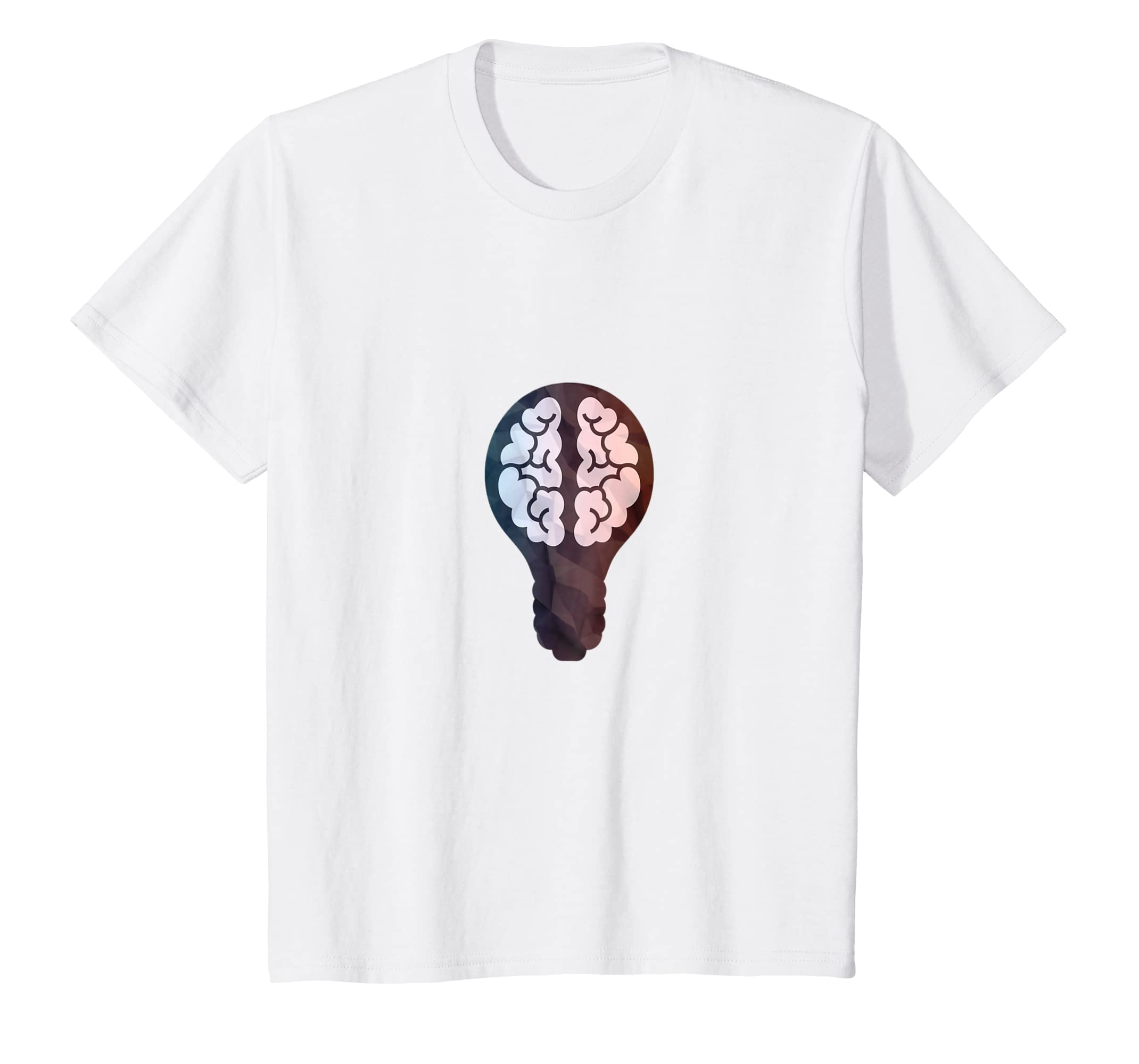 Amazon.com: Brain - Bulb T-Shirts - Idea Think Brain Light Bulb Shirts: Clothing