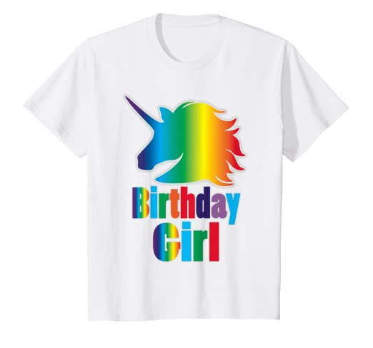 Amazon Kids Rainbow Unicorn Birthday Girl Shirt